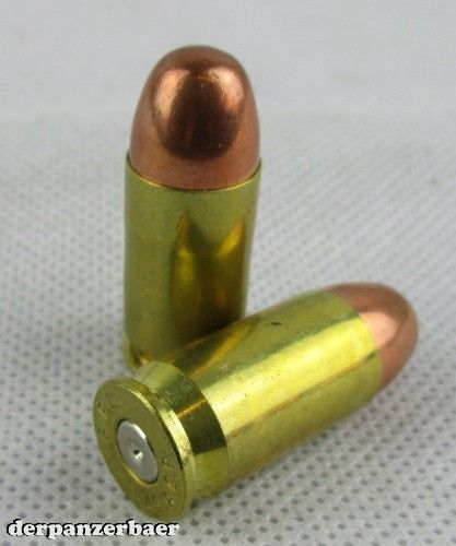 Patrone 45 ACP, messinghülse